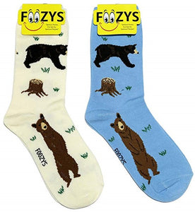 Black Bear Foozys Womens Crew Socks