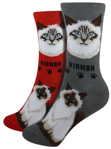 Birman Foozys Feline Cat Crew Socks