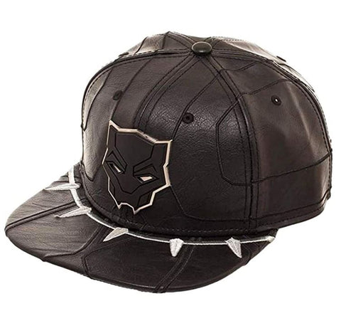 Marvel Black Panther Suit Up Raised Faux Leather Snapback Hat Cap