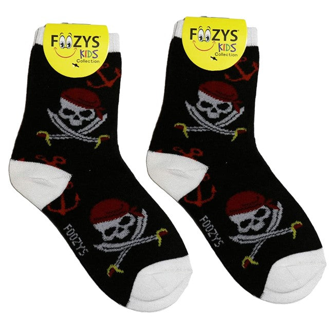 Pirates Skull & Swords Foozys Boys Kids Crew Socks