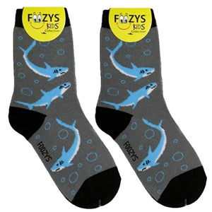 Sharks Foozys Boys Kids Crew Socks
