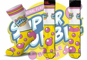 SUPER BUBBLE GUM ODD SOX COOL SOCKS MEN'S CREW