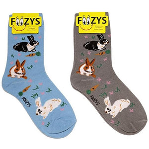Bunnies Bunny Foozys Womens Crew Socks