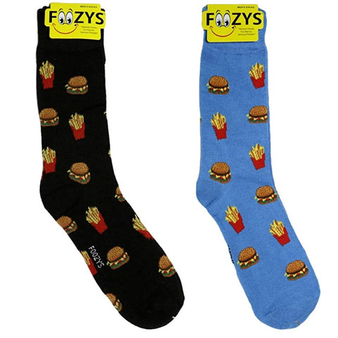 Hamburgers & Fries Foozys Men's Crew Socks Foozy