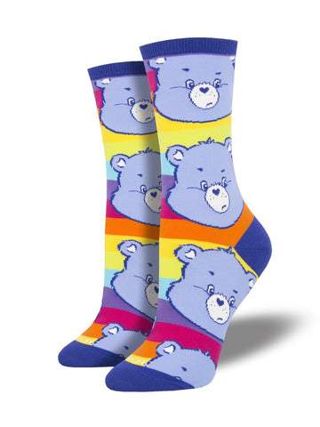 Grumpy Care Bears Socksmith Womens Crew Socks