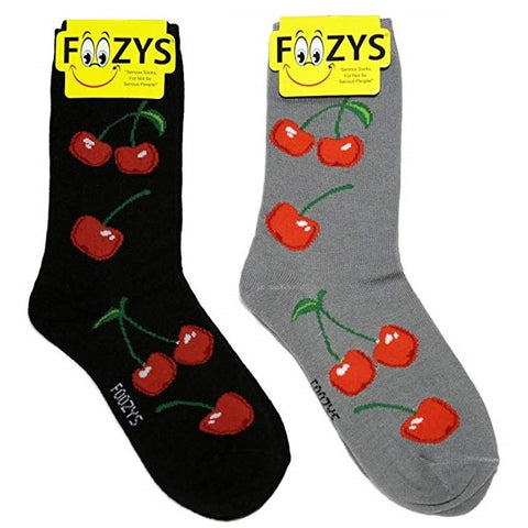 Cherry Fruit Foozys Womens Crew Socks