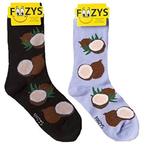 Coconut Fruit Foozys Womens Crew Socks