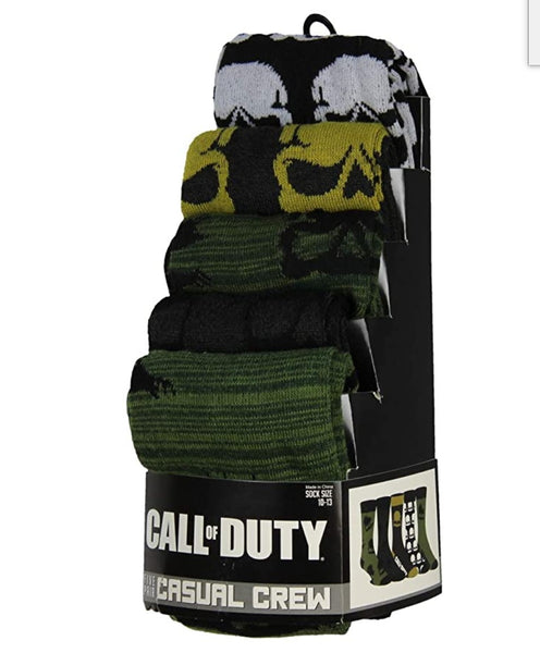 BioWorld Call Of Duty Five Pair Mens Costume Casual Crew Socks (5 Pack)