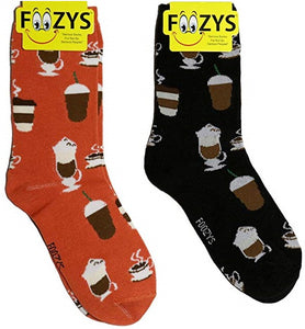 Coffee Time Foozys Womens Crew Socks