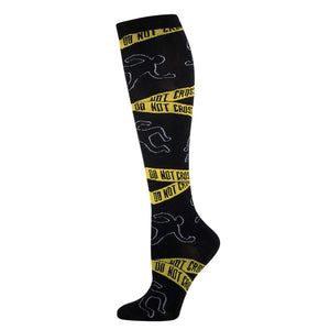 Crime Scene Do Not Cross Womens Knee-High Socks