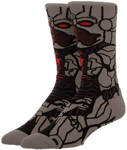 Cyborg Justice League Victor Stone 360° Degree Character Crew Socks