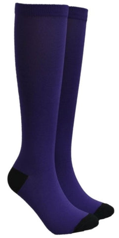 Dark Purple Compression Socks