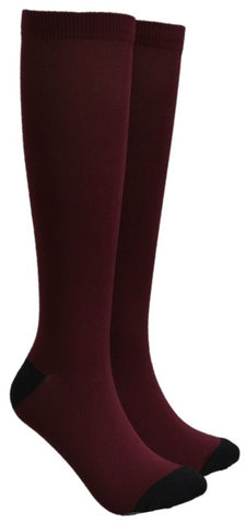 Burgundy Compression Socks