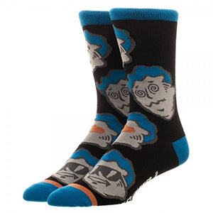 Fallout 4 Video Game Vault Boy Large All Over Print Crew Socks