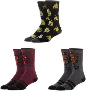 Bioworld Five Nights at Freddy's Athletic Crew Socks (Pack of 3)
