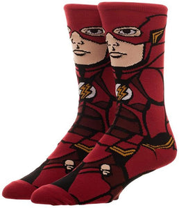 DC Comics Justice League Flash 360° Bioworld Character Crew Socks