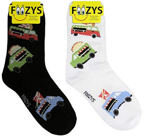 Food Trucks Foozys Womens Crew Socks