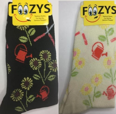 Gardening ~ Foozys by Crazy Awesome Socks ~ Choice 1 or 2 Pairs