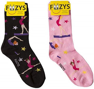Gymnastics Foozys Womens Crew Socks