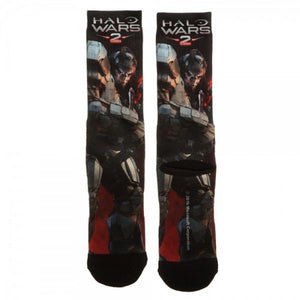 Halo Wars 2 Video Game Gamer Mens Sublimated Crew Socks