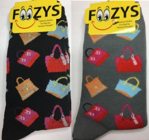 Handbags  ~ Foozys by Crazy Awesome Socks ~ Choice 1 or 2 Pairs