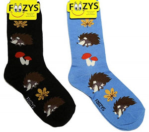 Hedgehog Foozys Womens Crew Socks