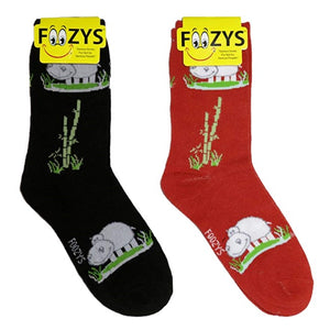 Happy Hippo Foozys Womens Crew Socks