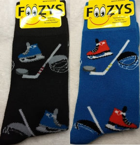 Ice Hockey ~ Foozys by Crazy Awesome Socks ~ Choice 1 or 2 Pairs