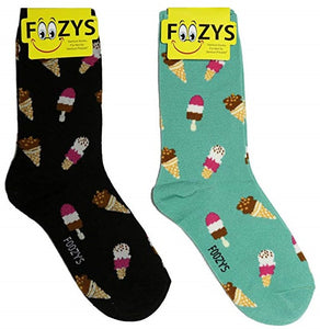 Ice Cream Cones & Pops Foozys Womens Crew Socks