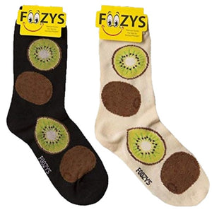 Kiwi Fruit Foozys Womens Crew Socks