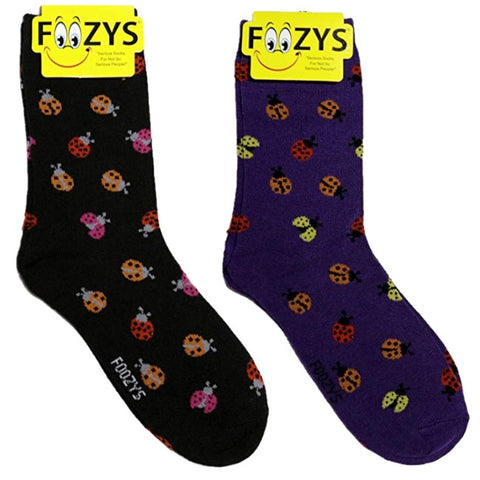 Ladybugs Foozys Womens Crew Socks