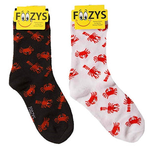 Lobster & Crabs Foozys Womens Crew Socks