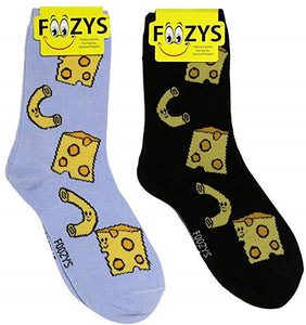 Mac N Cheese Foozys Womens Crew Socks