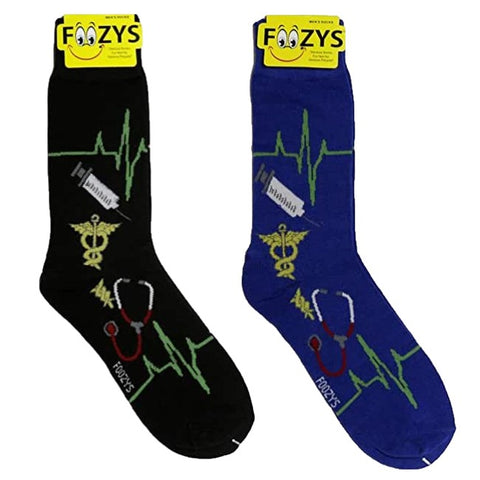 Medical Doctor Nurse Foozys Men's Crew Socks Foozy