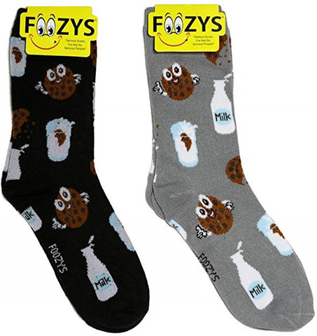 Milk & Cookies Foozys Womens Crew Socks