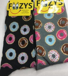 Mini Donuts ~ Foozys by Crazy Awesome Socks ~ Choice 1 or 2 Pairs