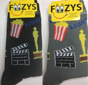 Hollywood ~ Movie Director ~ Foozys by Crazy Awesome Socks ~ Choice 1 or 2 Pairs