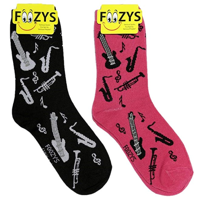 Musical Instruments Foozys Womens Crew Socks
