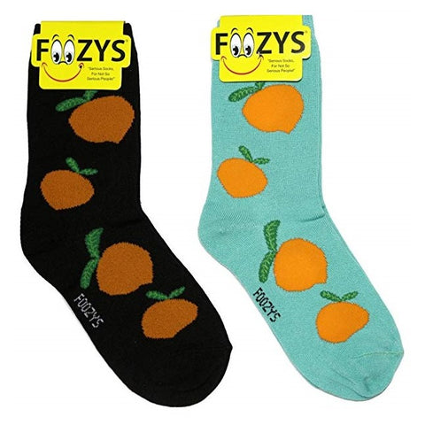 Peaches Fruit Foozys Womens Crew Socks