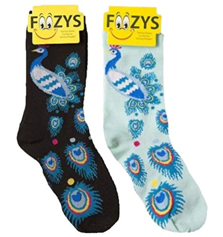 Peacock Foozys Womens Crew Socks