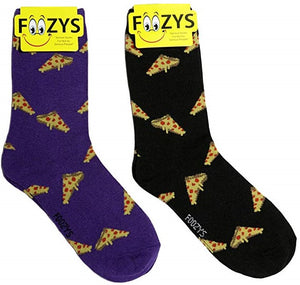 Pepperoni Pizza Slice Foozys Womens Crew Socks