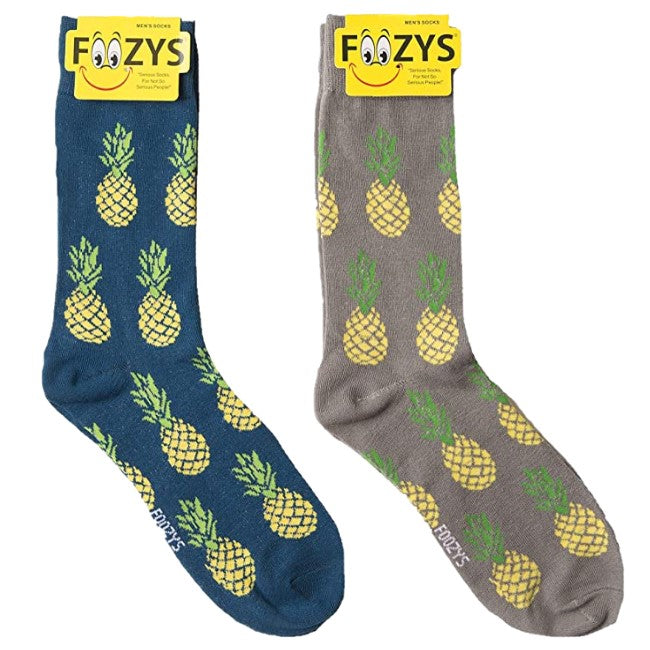 Pineapples Foozys Men's Crew Socks Foozy
