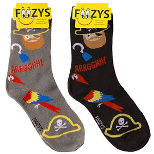 Pirate & Parrot Foozys Womens Crew Socks