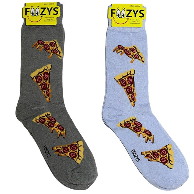 Pepperoni Pizza Foozys Men's Crew Socks Foozy