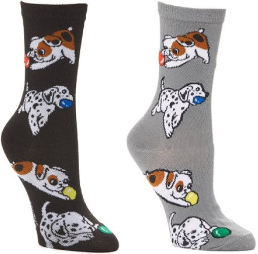 Playful Puppies ~ Foozys by Crazy Awesome Socks ~ Choice 1 or 2 Pairs