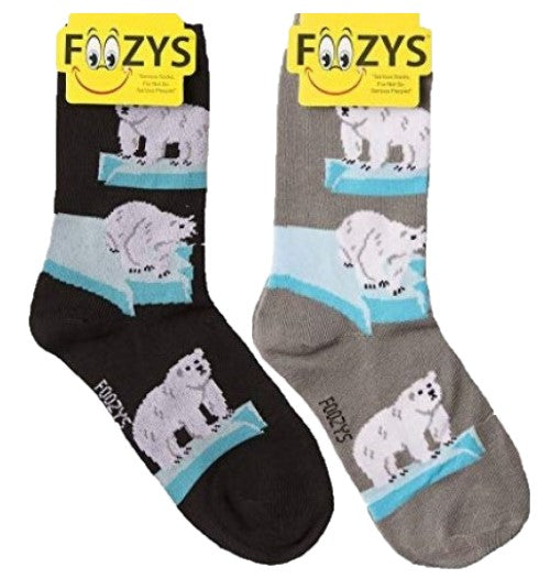 Polar Bear Foozys Womens Crew Socks