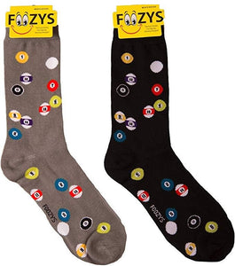 Billiards Pool Foozys Men's Crew Socks Foozy