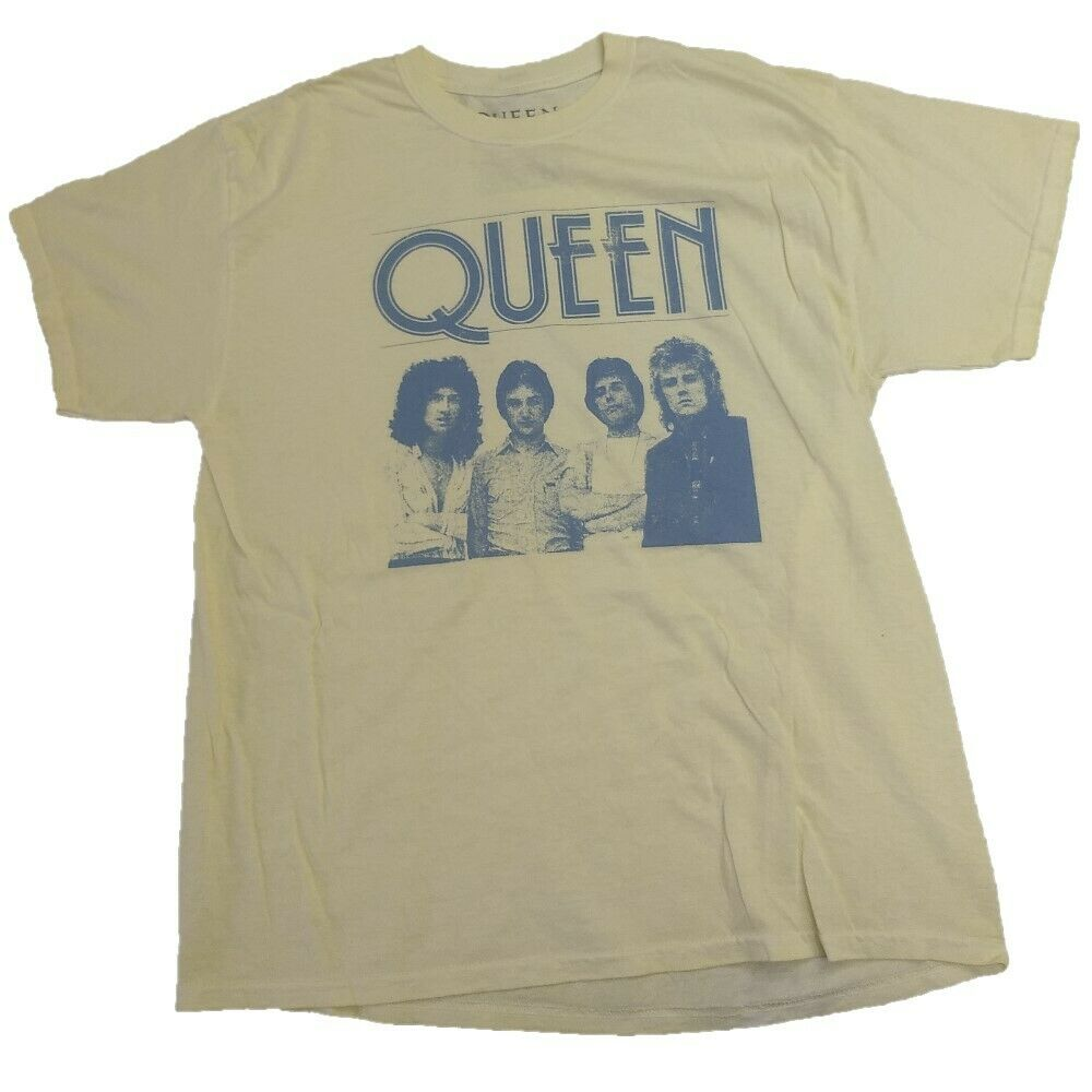 Queen Official Distressed T-Shirt Vintage Band Tee Adult Men's