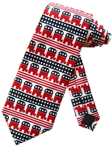 Republican Party Elephant U.S.A Political Tie Parquet
