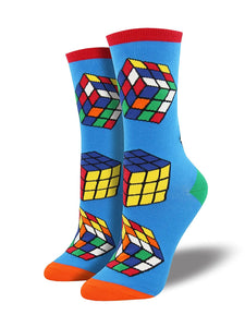Rubik's Cube Art of Smart SockSmith Womens Socks